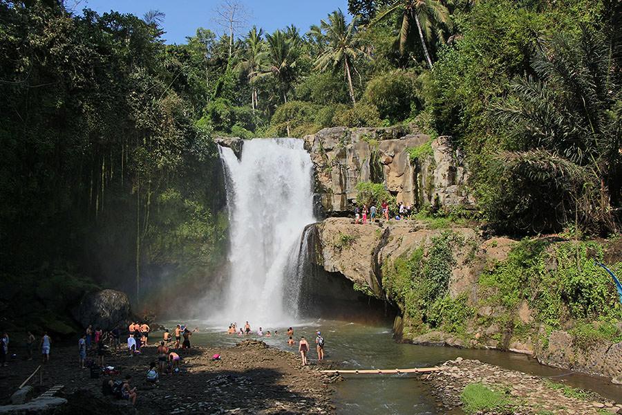 Einer der beliebtesten Wasserfälle auf Bali: Der Air Terjun Tegenungan