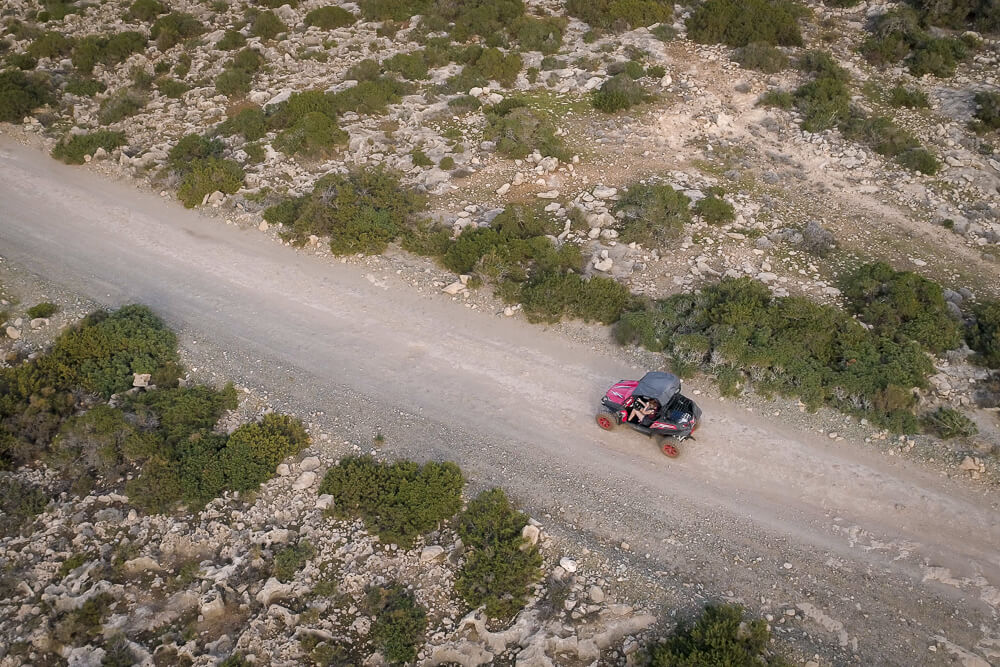 Drohnenfoto von unserer Buggy-Tour über die Akamas-Halbinsel Zyperns