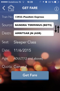 App Indian Railway
