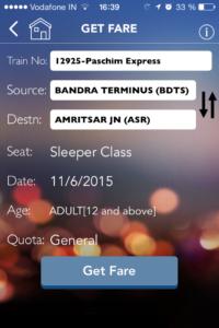 App Indian Railway