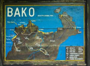 Bako-Nationalpark-Wanderrouten-Karte
