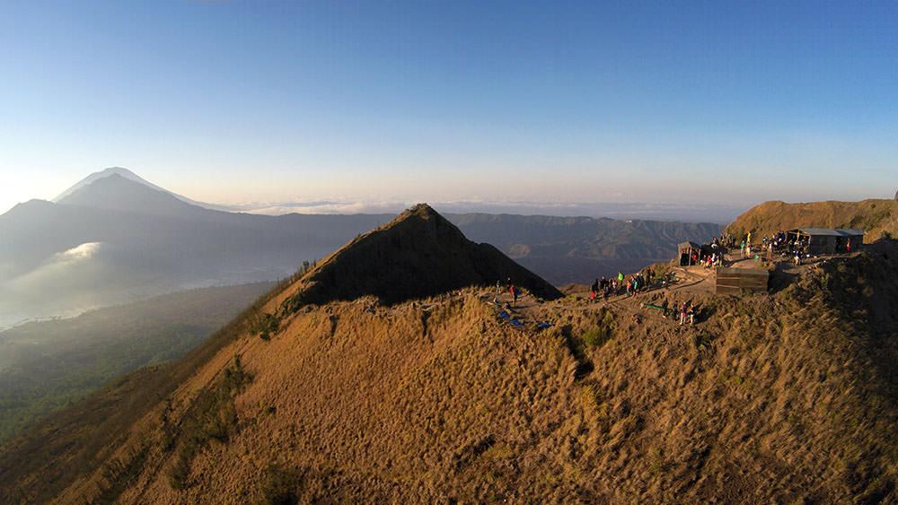 Drohnenaufnahme Mount Batur