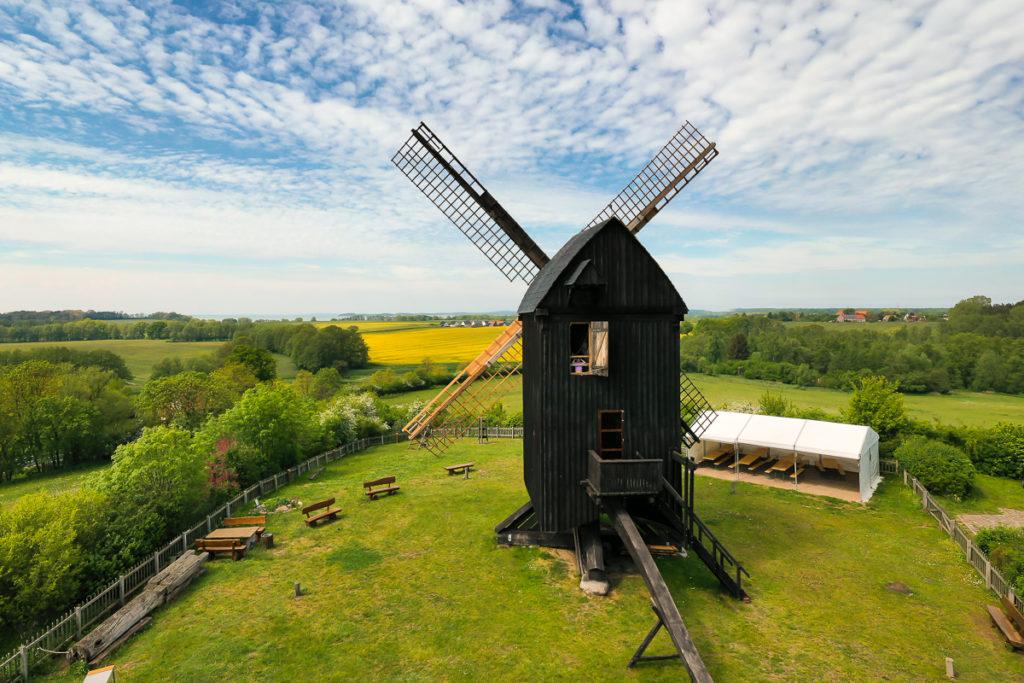 Die Bockwindmühle von Pudagla auf Usedom