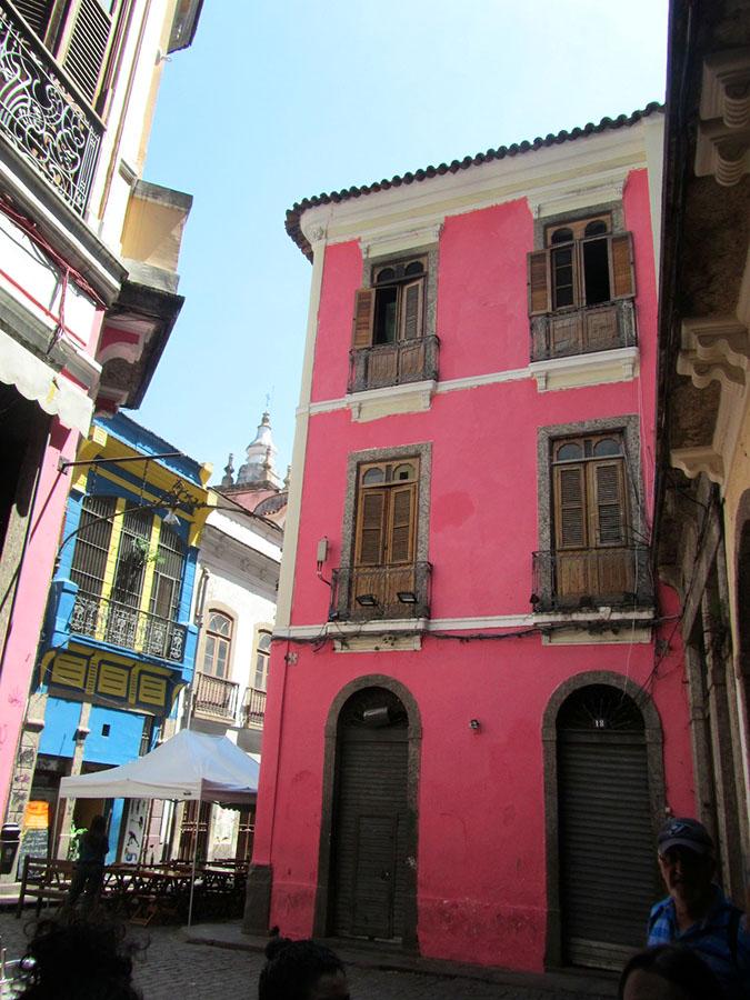 Bunte Hausfassaden in der Stadt Rio de Janeiro