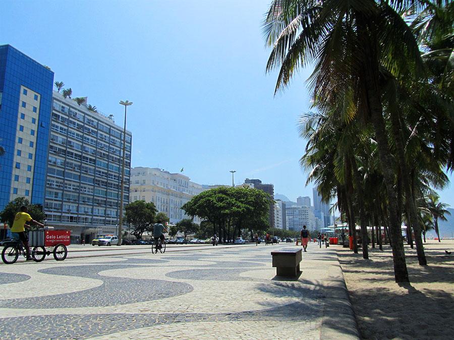 An der Copacabana in Rio de Janeiro