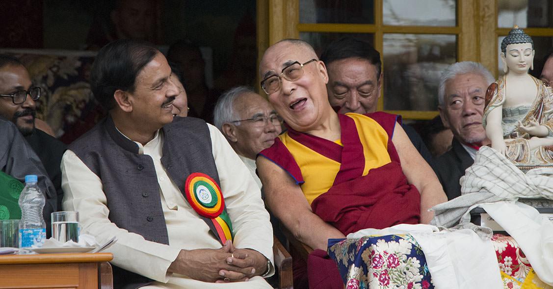 Dalai Lama bei seinem 80. Geburtstag