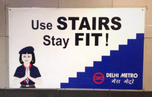 Delhi-Metro-U-Bahn-Plakat
