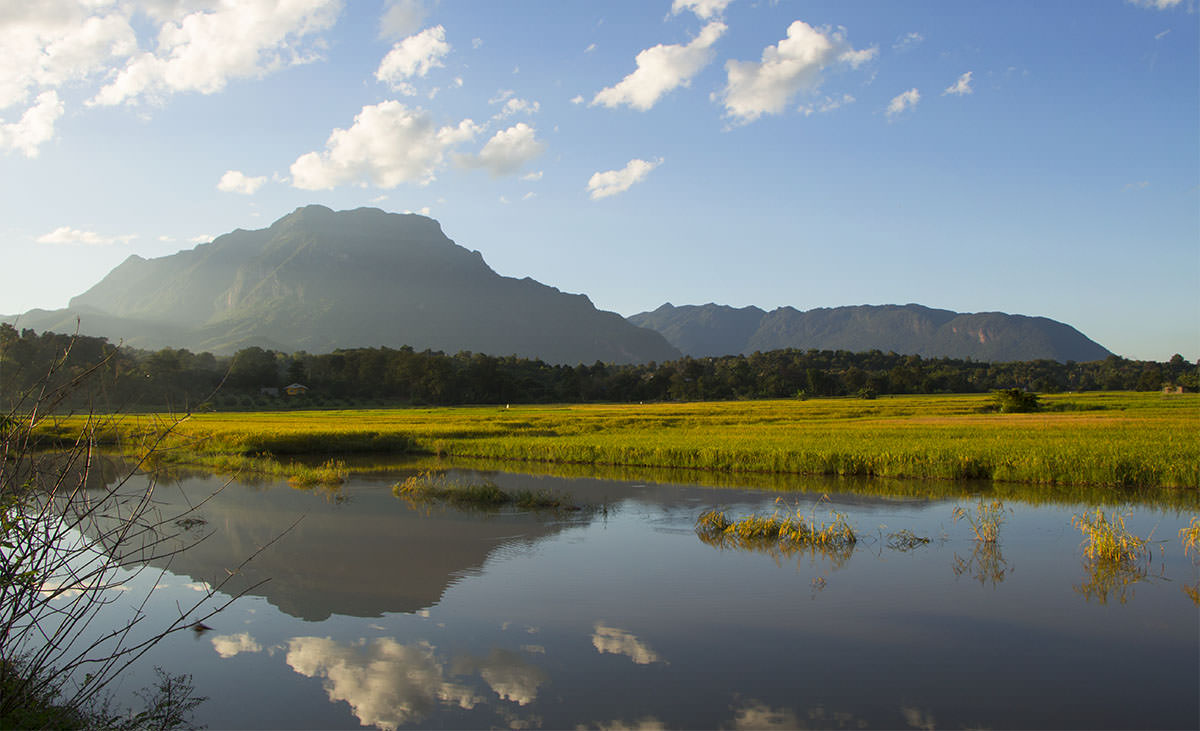Bei unserer Ankunft in Chiang Dao, wurden wir von dieser wunderschönen Landschaft empfangen.