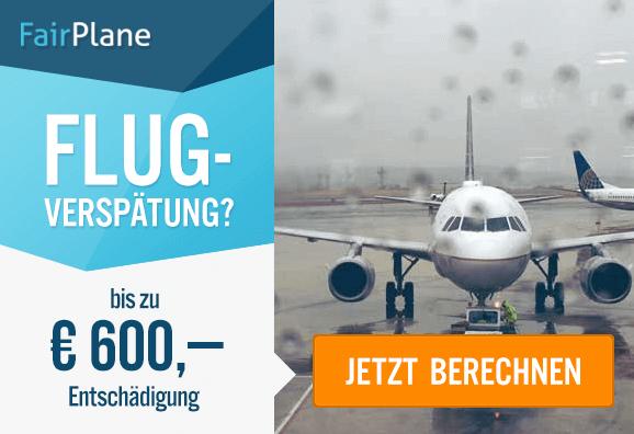 Entschädigung bei Flugverspätungdank FairPlane