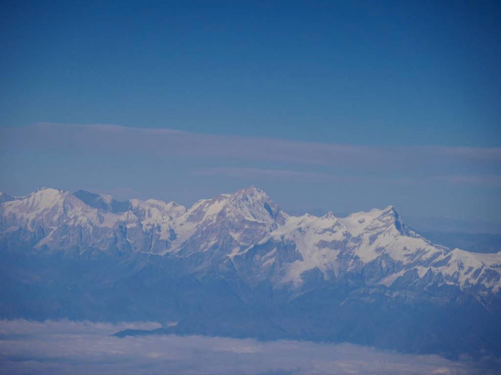 Beim Flug nach Bhutan hast du eine geniale Aussicht