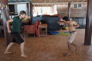 Beim privaten Capoeira-Training