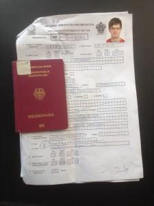 Ausgefülltes Formular zur Visa-Verlängerung in Sri Lanka