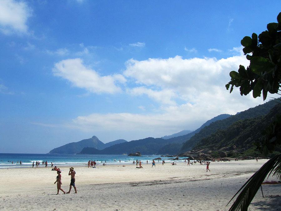 Der Lopes Mendes Strand auf der Ilha Grande