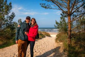 Am Weg über die Düne zum Strand von Karlshagen auf Usedom