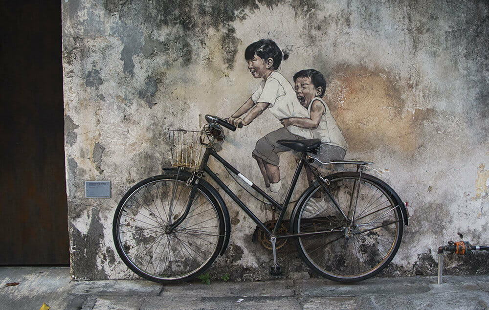 Kids-on-Bicycle-StreetArt-Georgetown-Penang