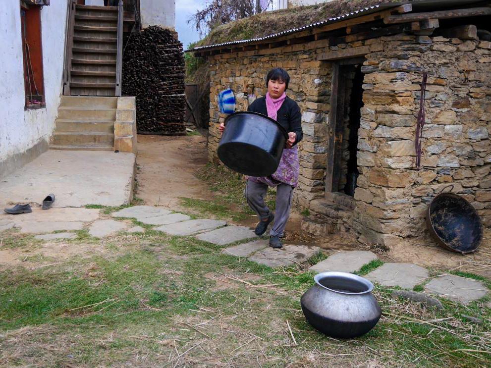 Traditionelles Kochen in Bhutan