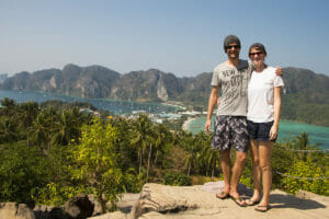 Als Backpacker auf dem Koh Phi Phi View Poin