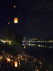 Lichterfest Chiang Mai Thailand Loy Krathong Yi Peng