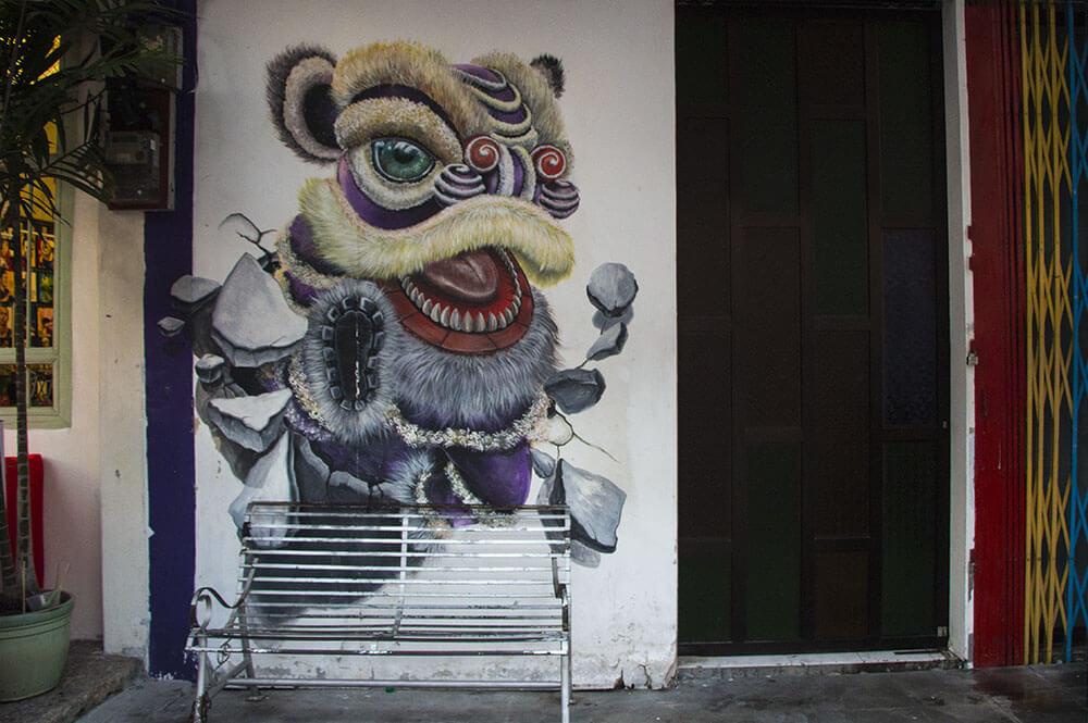 Lion-Dance-Streetart-Georgetown-Penang-Rundgang