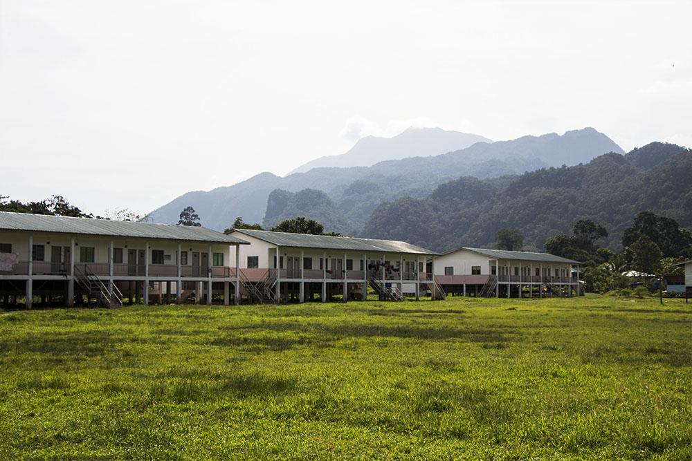 Die Langhäuser beim Mulu Nationalpark auf Borneo