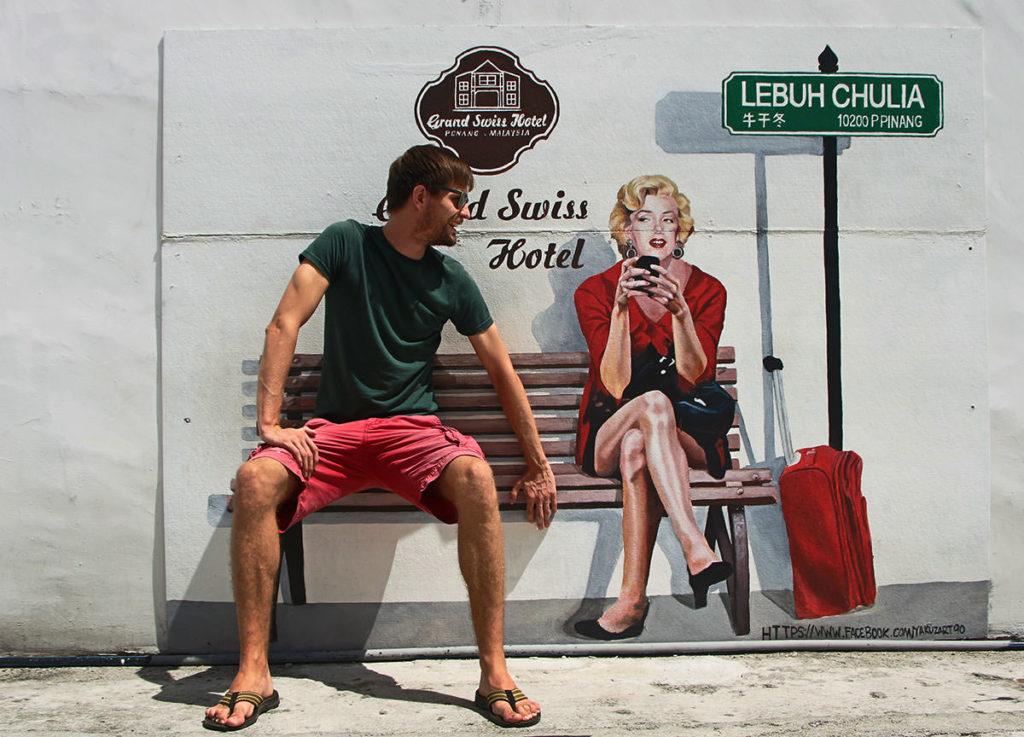 Einmal neben Marilyn Monroe auf einer Bank sitzen