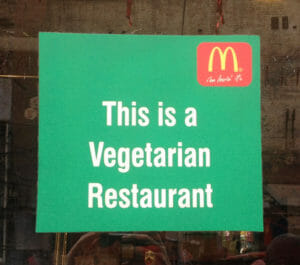 McDonalds-vegetarisches-Restaurant-Indien
