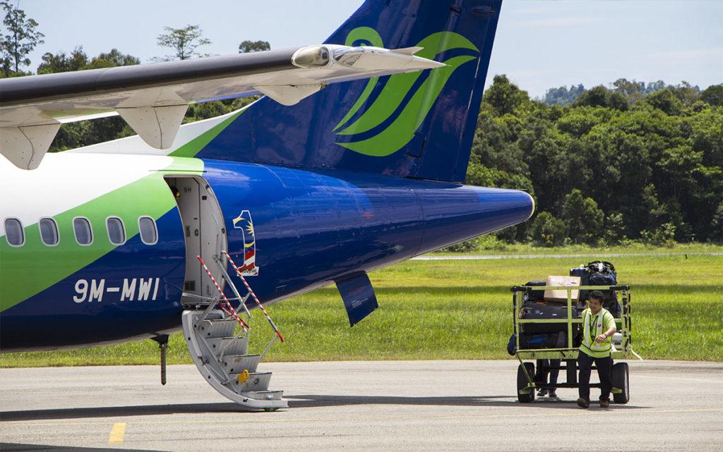 Der einfachste Weg in den Mulu Nationalpark ist per Flugzeug