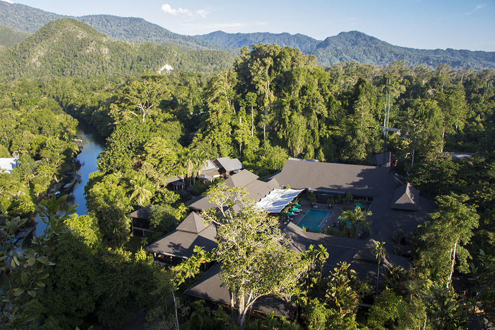 Das Hotel Marriott Resort & Spa mit Pool im Mulu Nationalpark
