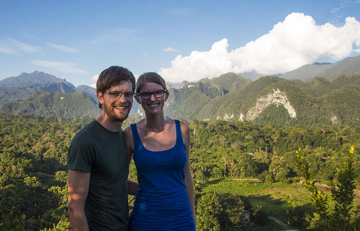 Aussicht vom Mount Kamau zum Mulu Nationalpark