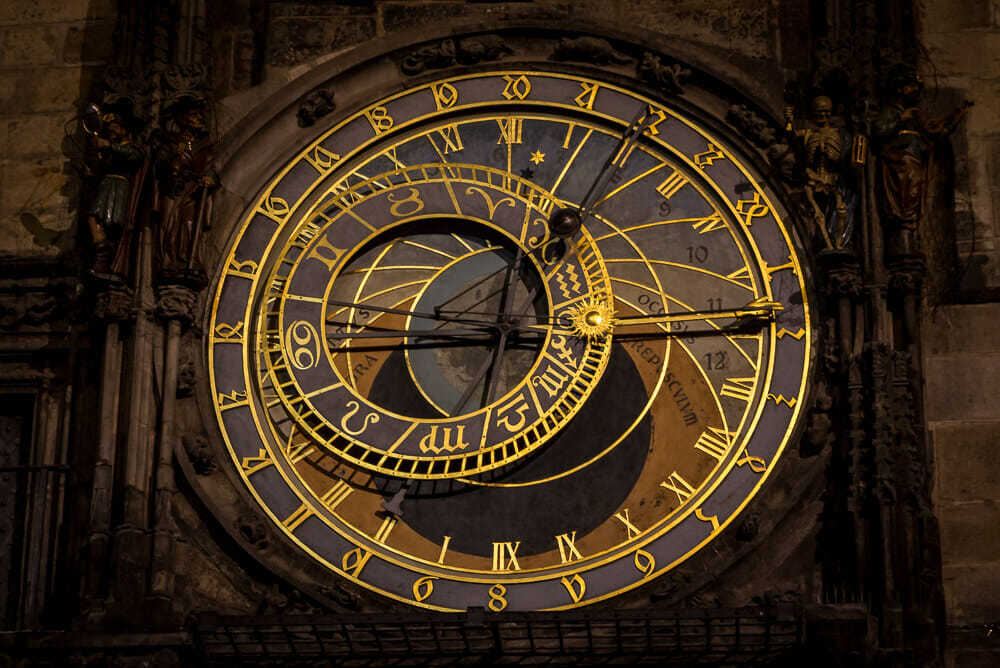 Berühmte Sehenswürdigkeit in Prag: Die Astronomische Uhr