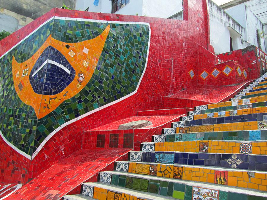 Escadaria Selaron Treppe in Rio de Janeiro
