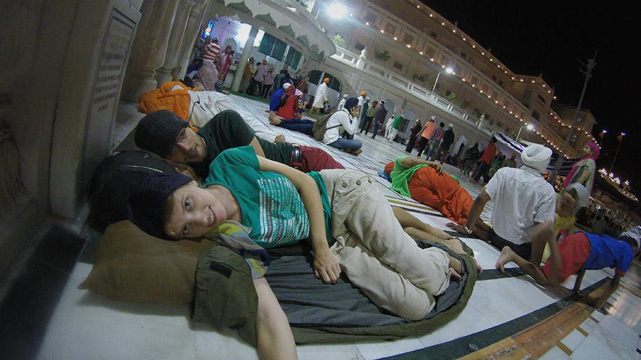 Unser Schlafplatz im Goldenen Tempel