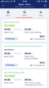 Mit der App Omio günstige Verbindungen finden