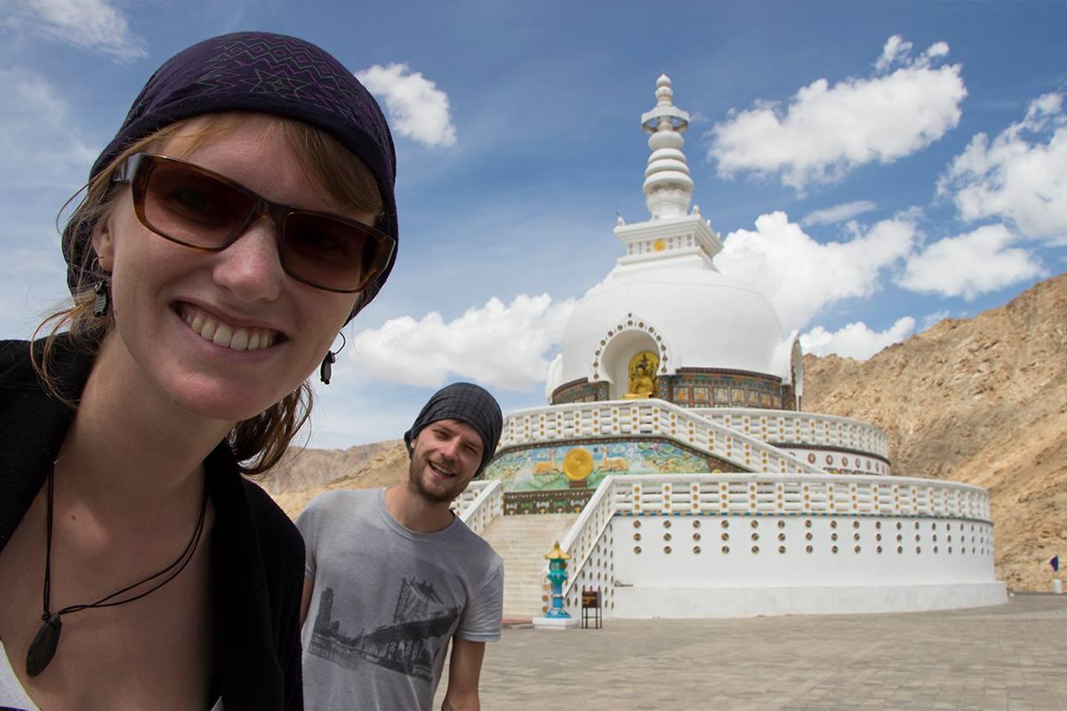 Shanti Stupa in Leh, Indien