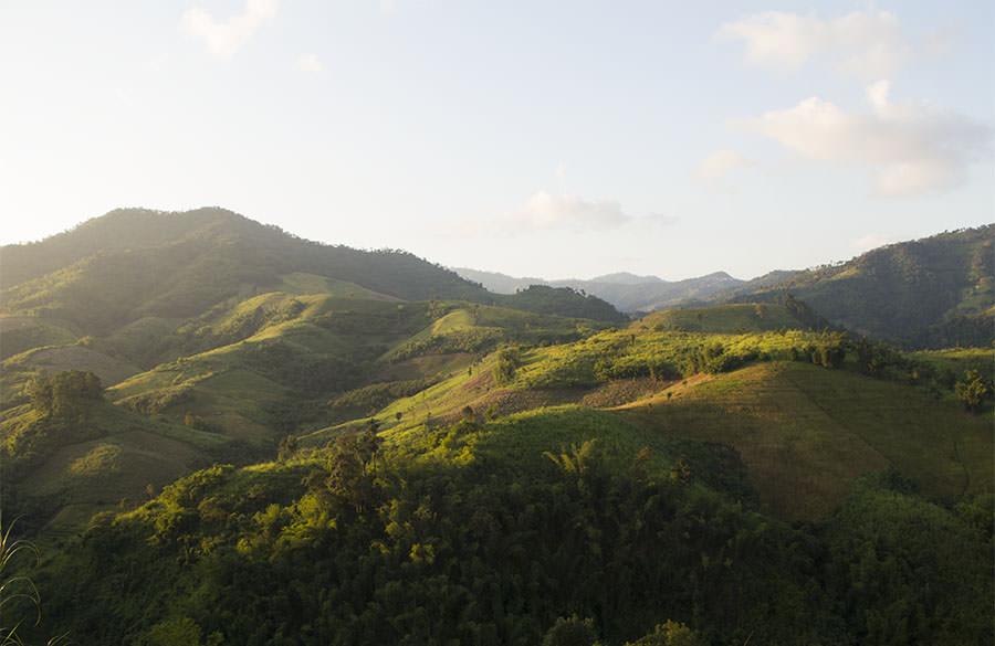 Sonnenuntergang-Goldenes-Dreieck-Norden-Thailand