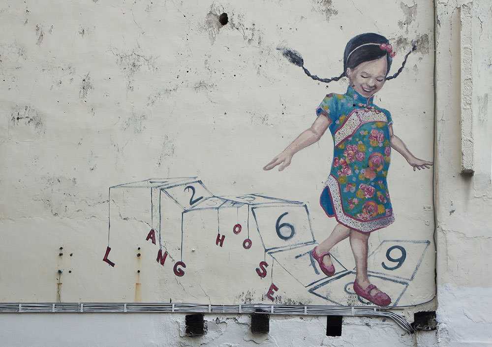 Bild eines spielenden Mädchens