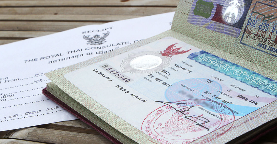 Unser fertiges Thailand-Visum im Reisepass