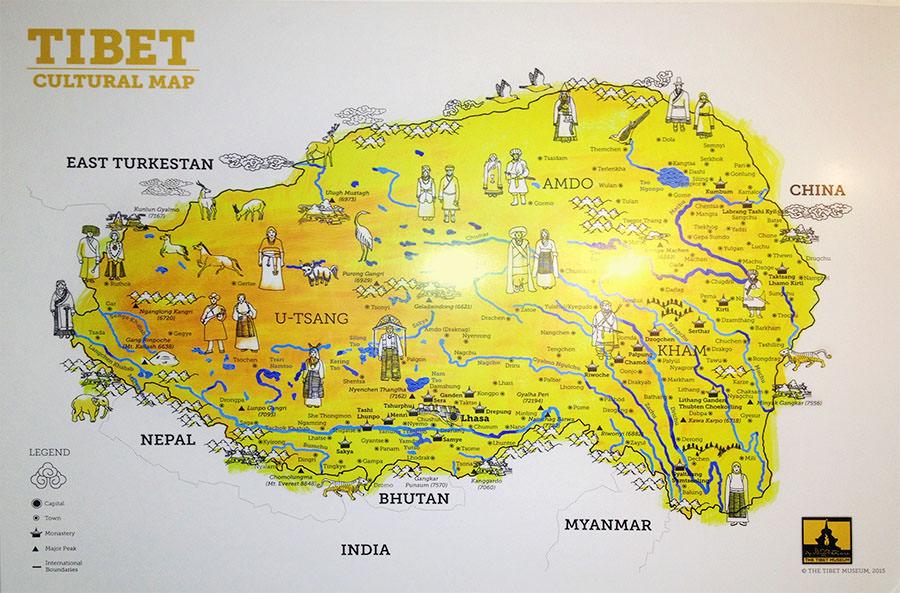 Tibet Cultural Map