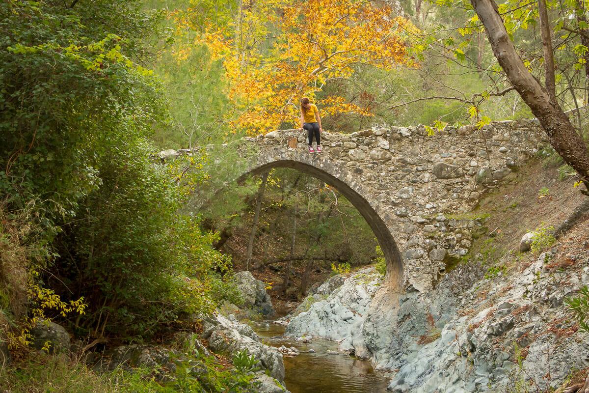 Wandern in Zypern über die venezianische Elia-Brücke