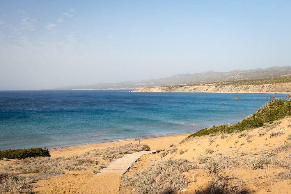 Auf dem Weg zum Lara Beach