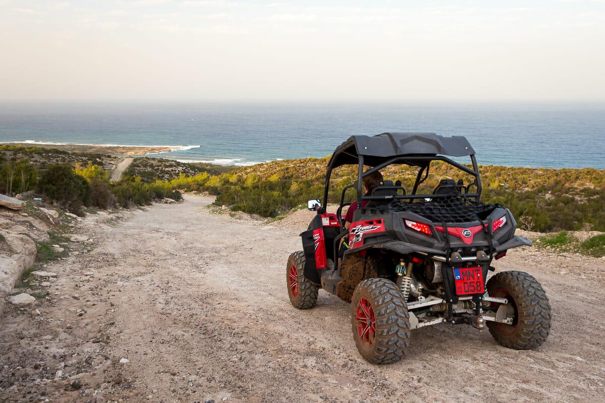 Wir haben die Akamas-Halbinsel in Zypern mit einem Buggy erkundet