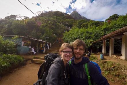 Besteigung des Adam's Peaks in Sri Lanka