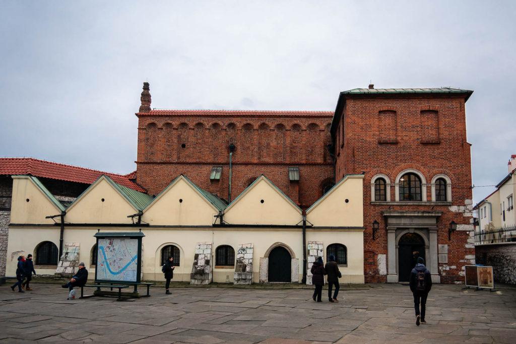 Die alte Synagoge Krakaus im jüdischen Viertel Kazimierz