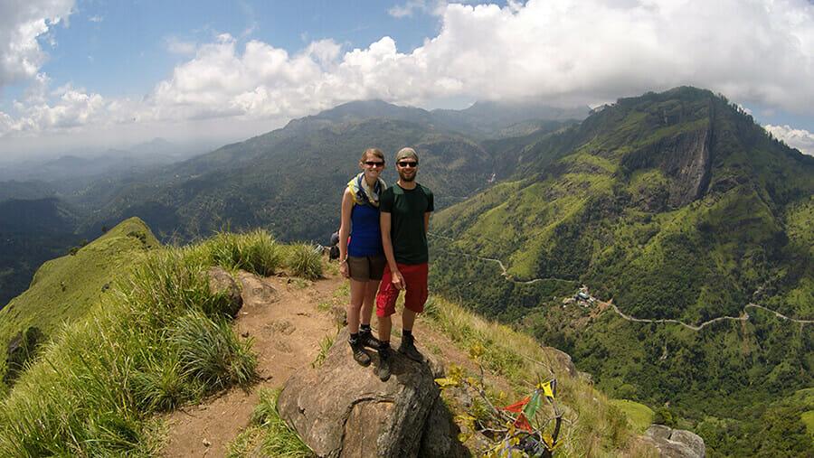 Drohnen-Foto vom Little Adam's Peak, Sri Lanka