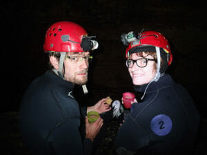 Caving in Waitomo, Neuseeland