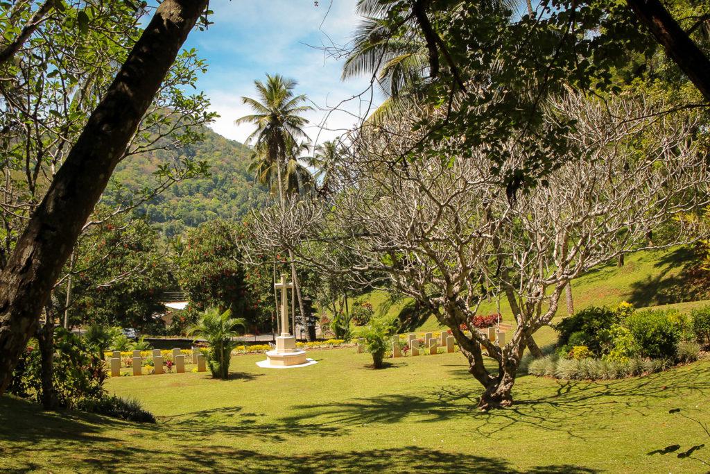 Der Soldatenfriedhof von Kandy in Sri Lanka
