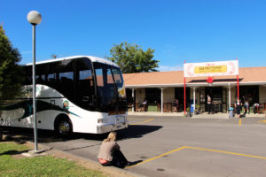 Pause auf Intercity-Busfahrt nach Kerikeri