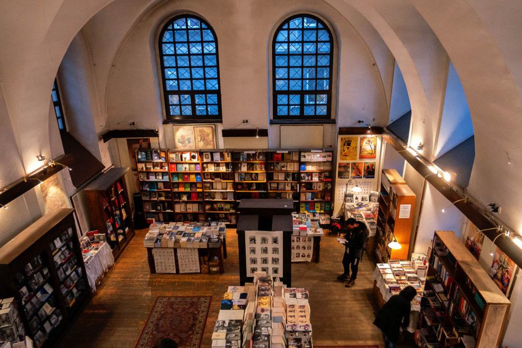 Im jüdischen Buchladen in Krakau
