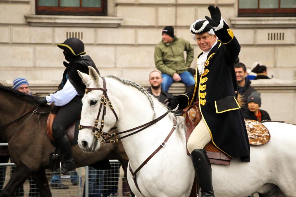 Ein Reiter der Neujahrs-Parade in London