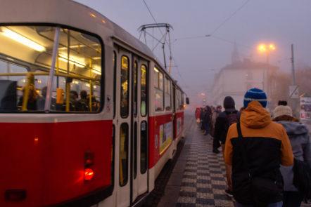 Die Straßenbahnlinie 22 des Prager Nahverkehrs